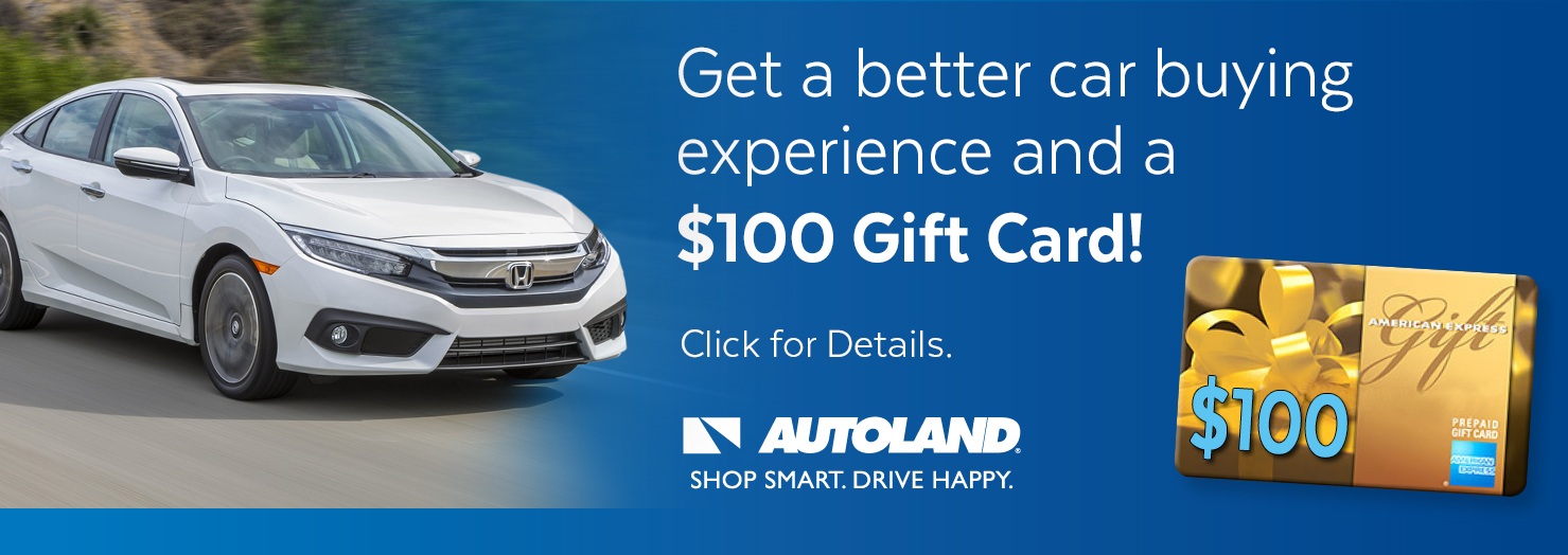 Get a $100 Gift Card when you buy a vehicle with our partner Autoland and finance with ILWU Credit Union.