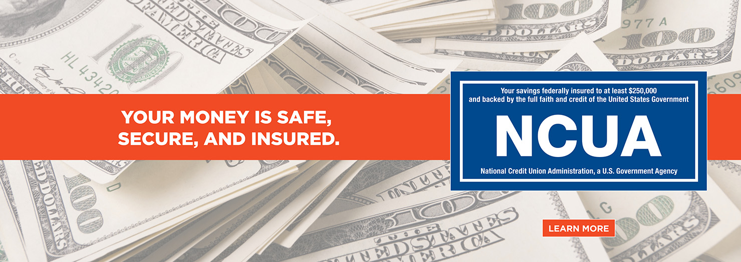 Your funds are safe, secure and insured.